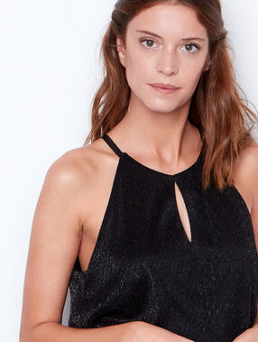 Sequined top black.