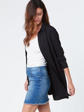 Chemise longue noir.