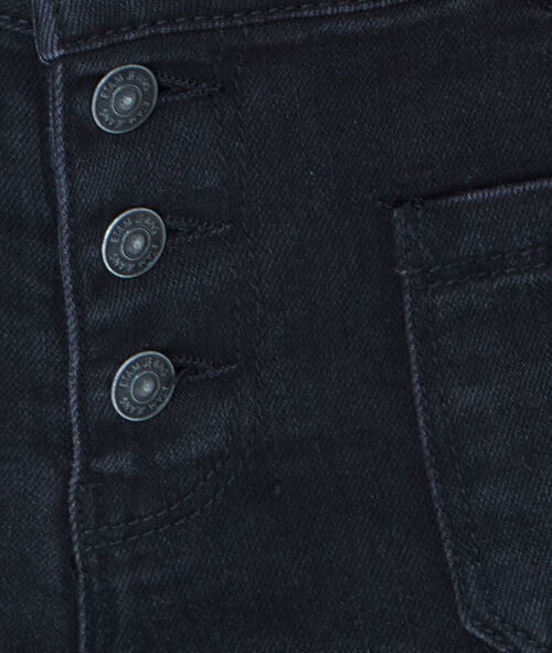Slim jeans with patch pockets