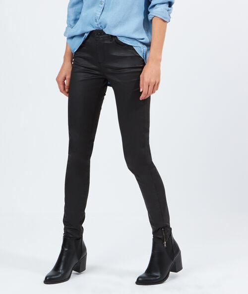 Jean skinny enduit