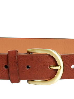 Leather belt braun.