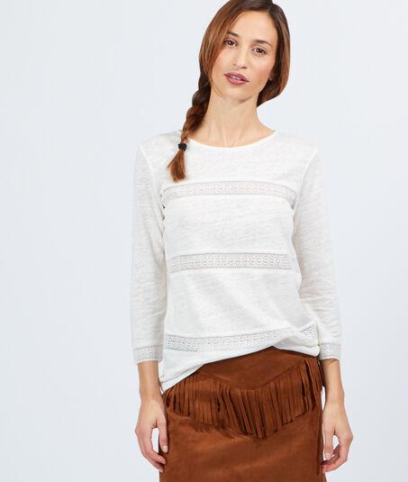 JULIETTET-shirt coton et lin bandes brodées