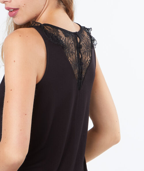 Sleeveless laced top