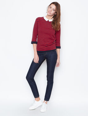 Striped sweater navy.