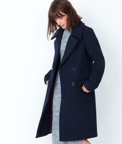 Manteau caban long encre.