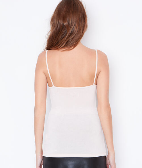 Tank top with guipure detail