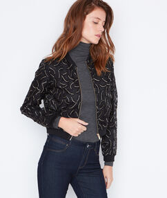 Sheer bomber jacket black.