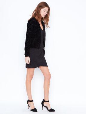 Robe ajustée à paillettes noir.