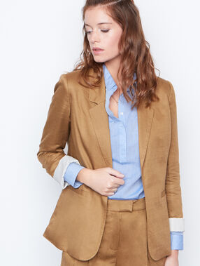 Linen suit jacket brown.