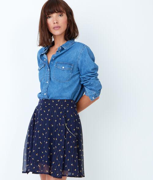 Fluid printed skirt