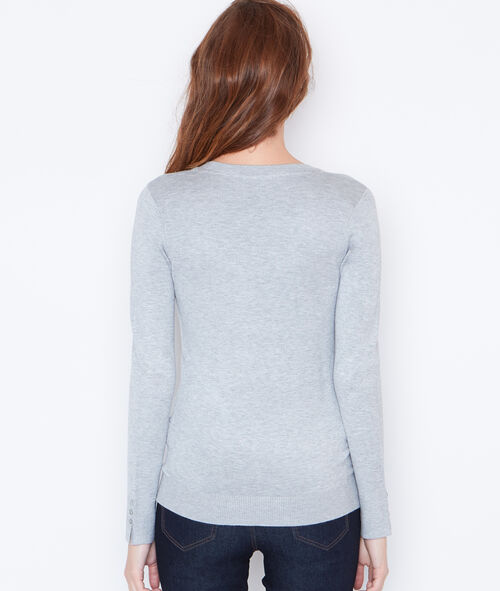 V-neck fine sweater