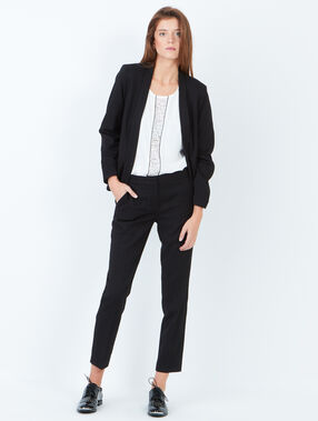 Tailored collar blazer black.