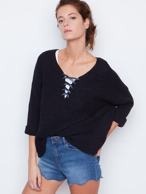 3/4 sleeves sweater navy.