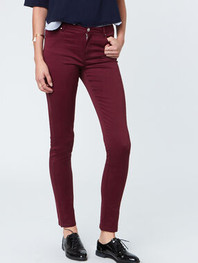 Slim pants plum.