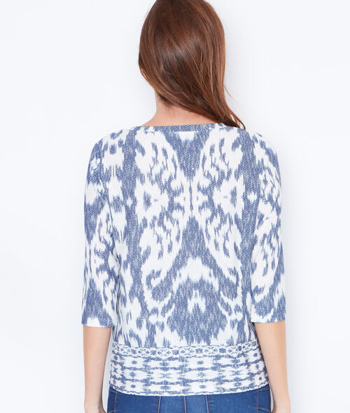 3/4 sleeve printed top