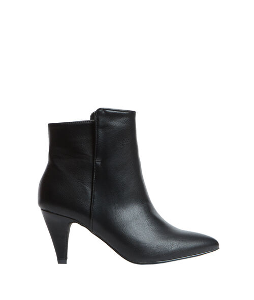 Bottines pointues effet cuir
