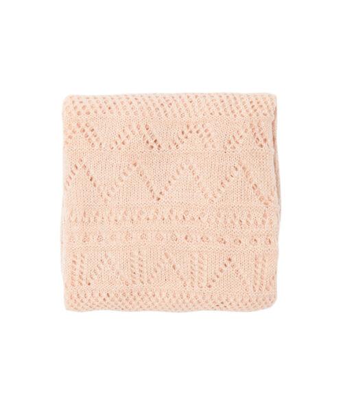 Echarpe tricot ajourée