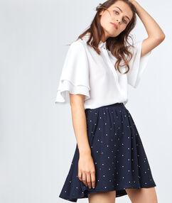 Flowing skirt marineblau.