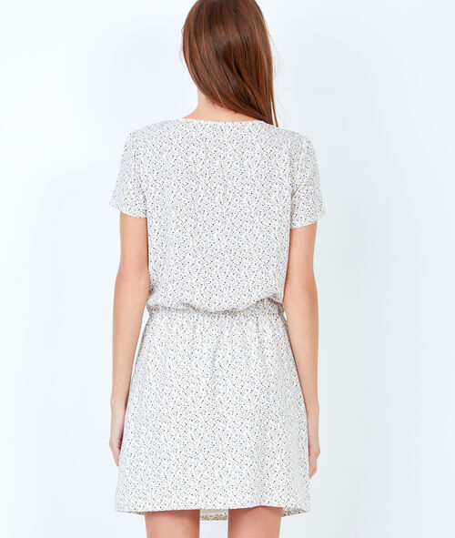 Print short-sleeves dress
