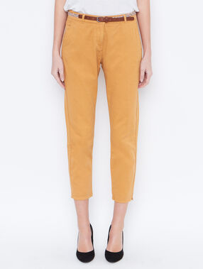 Pantalon carotte curry.