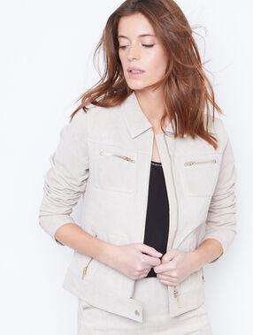 Leather jacket nude.