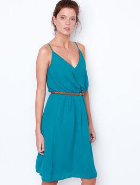 Sleeveless dress emerald.
