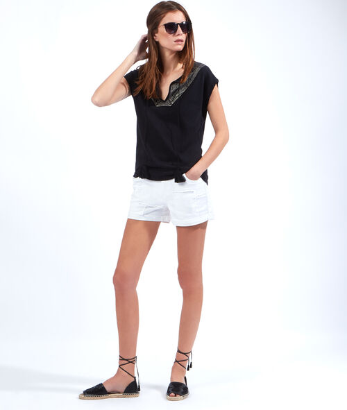 Linen and cotton top