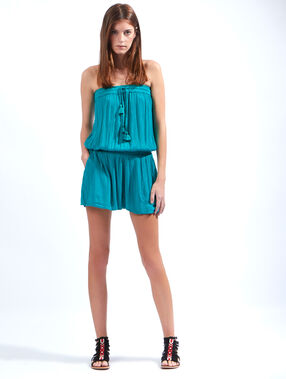 Crepe playsuit turquoise.