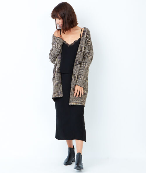 Printed in Wales long cardigan