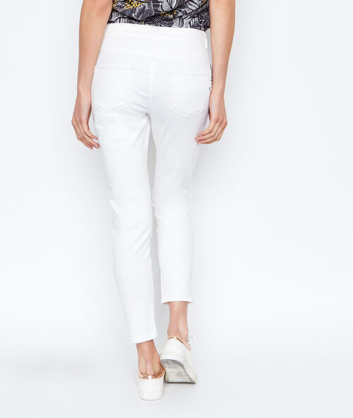 Embroidered slim pant