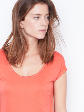 Short sleeve top coral.