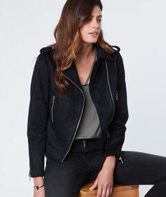 Blouson perfecto à zip noir.