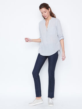3/4 sleeves blouse grey.