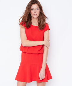 Flare dress red.