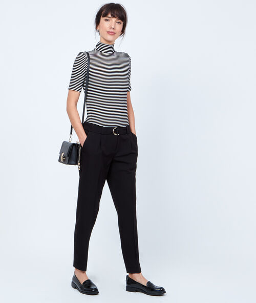 Skinny pants 7/8, with belt