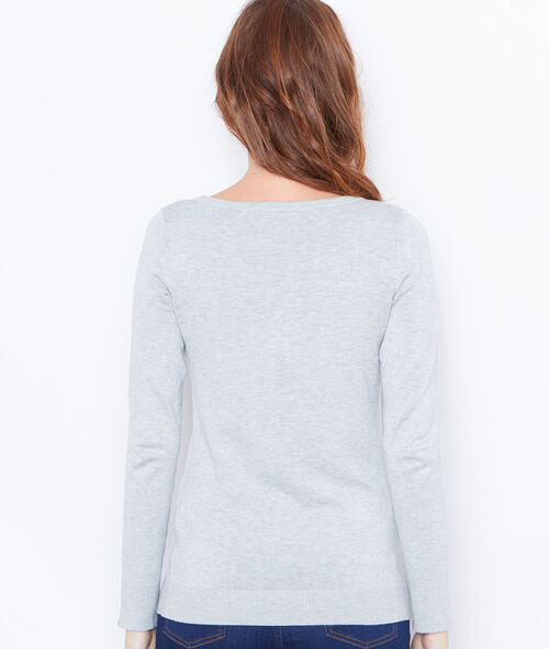 V-neck sweater with button details