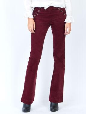 Corduroy flare pants plum.
