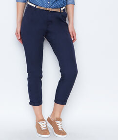 Belted pant navy.