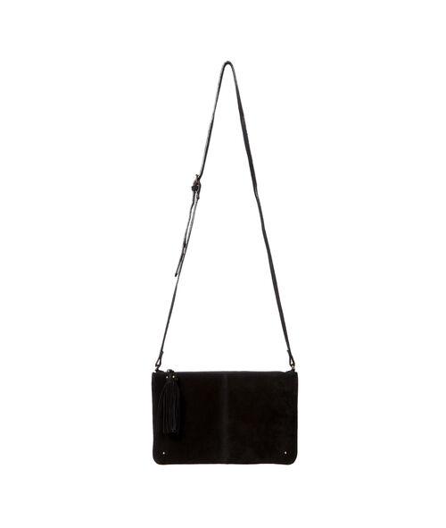 Split leather clutch bag