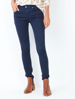 Pantalon skinny bleu marine.