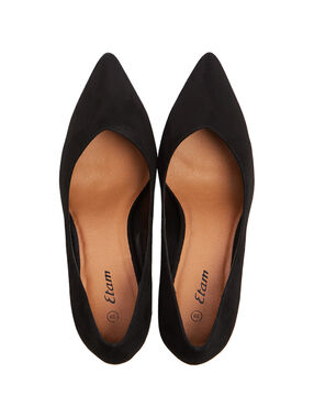 Faux suede pumps black.