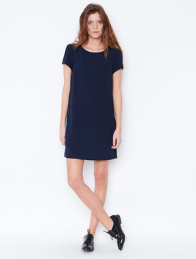 Short sleeve dress navy.