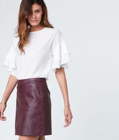 Mini skirt leather effect burgundy.