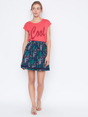 T-shirt coral.