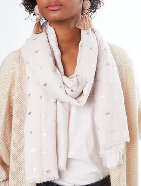Schal beige.