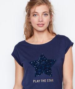 T-shirt marineblau.
