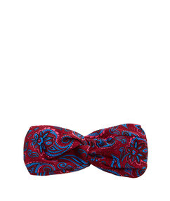 Headband à imprimés cachemires bleu marine.
