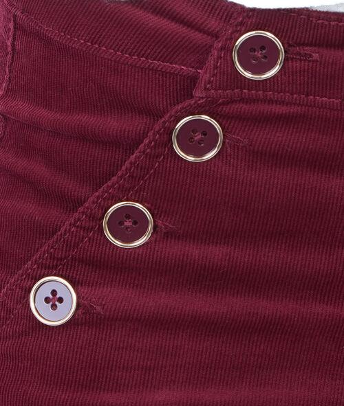Pantalon évasé en velours côtelé