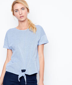 Short sleeves top blue.