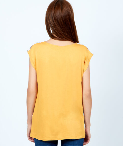 Print sleeveless top